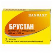 Брустан, табл. п/о 400 мг+325 мг №10